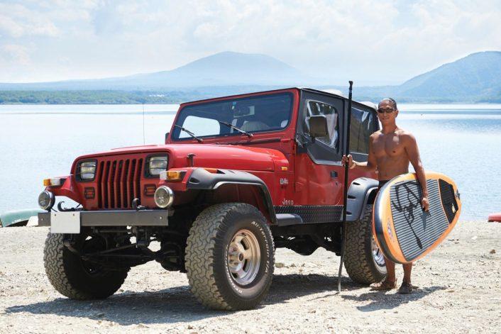 6-706x471 Jeep®で行く!人気沸騰中のウォータースポーツSUPに本栖湖でチャレンジ