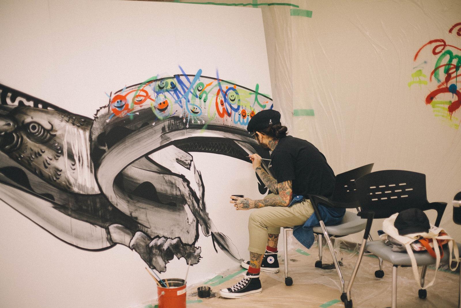 IMG_1339 国内外で活躍するアーティスト4組の「作品の向こう側」| ジャーナル スタンダード「オムニバス展」密着レポート!