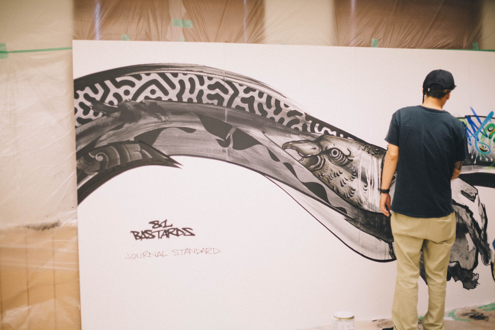 IMG_1371 国内外で活躍するアーティスト4組の「作品の向こう側」| ジャーナル スタンダード「オムニバス展」密着レポート!