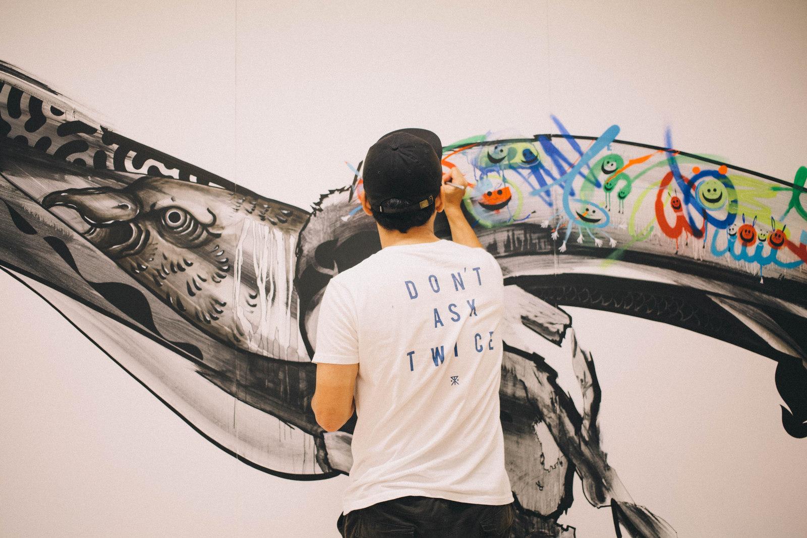 IMG_1416 国内外で活躍するアーティスト4組の「作品の向こう側」| ジャーナル スタンダード「オムニバス展」密着レポート!