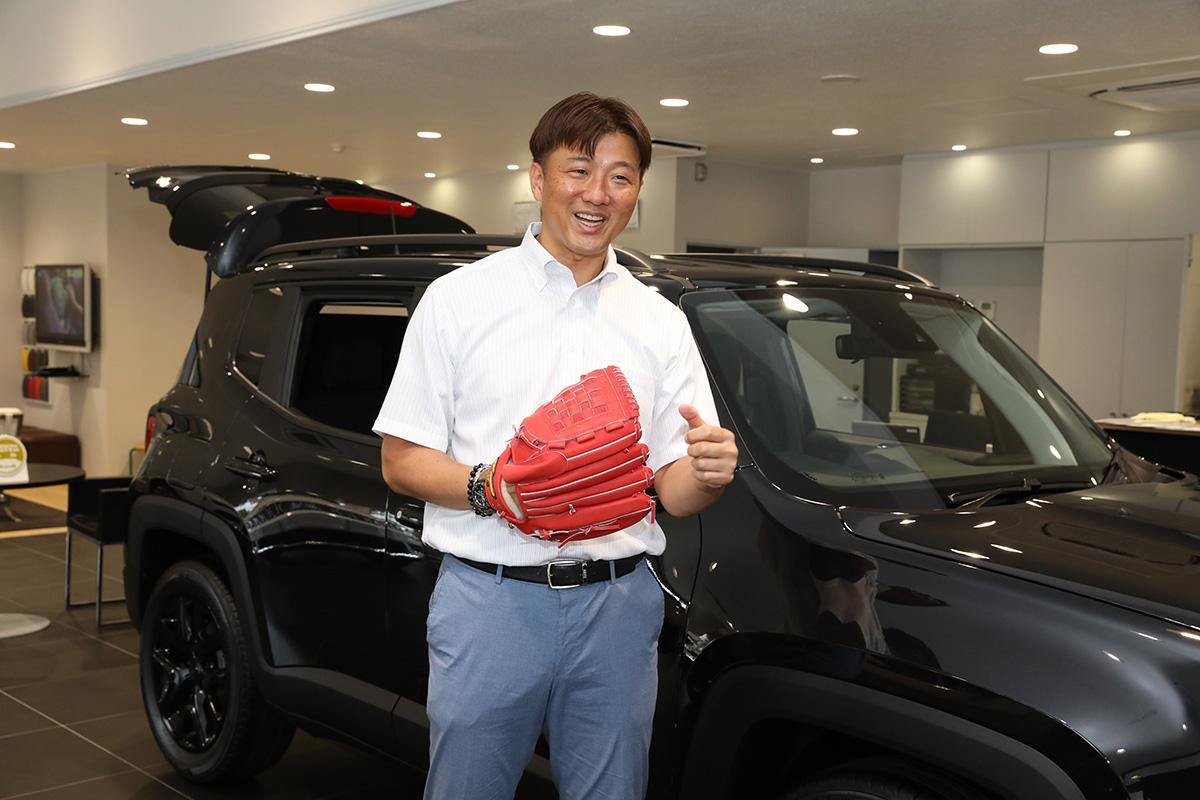 0Y6A0166-1 子どもたちに野球用具を贈りたい!Jeepが展開するクラウドファンディング『Share your heart』の活動に元メジャーリーガー・岩隈久志さんがエールを送る!
