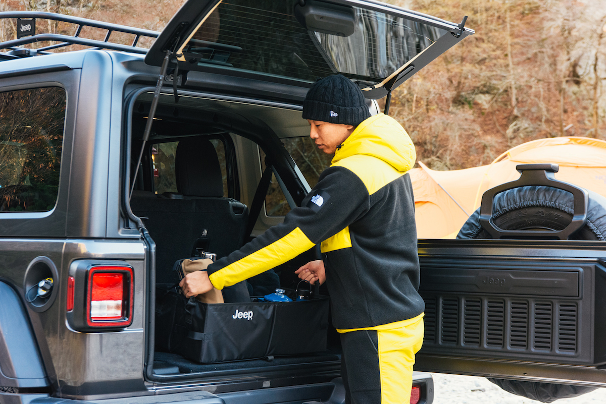 181213_jeep_sasaki_10 【キャンプサイト編】RealStyleを体現するスキーヤー佐々木明とNEW Jeep® Wranglerでアウトドアへ! 〜純正アクセサリー & キャンプギア大特集〜