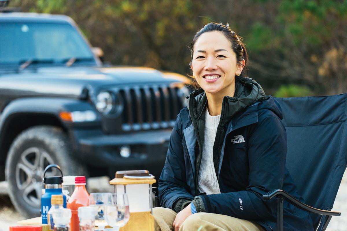 181213_jeep_sasaki_27 【キャンプサイト編】RealStyleを体現するスキーヤー佐々木明とNEW Jeep® Wranglerでアウトドアへ! 〜純正アクセサリー & キャンプギア大特集〜