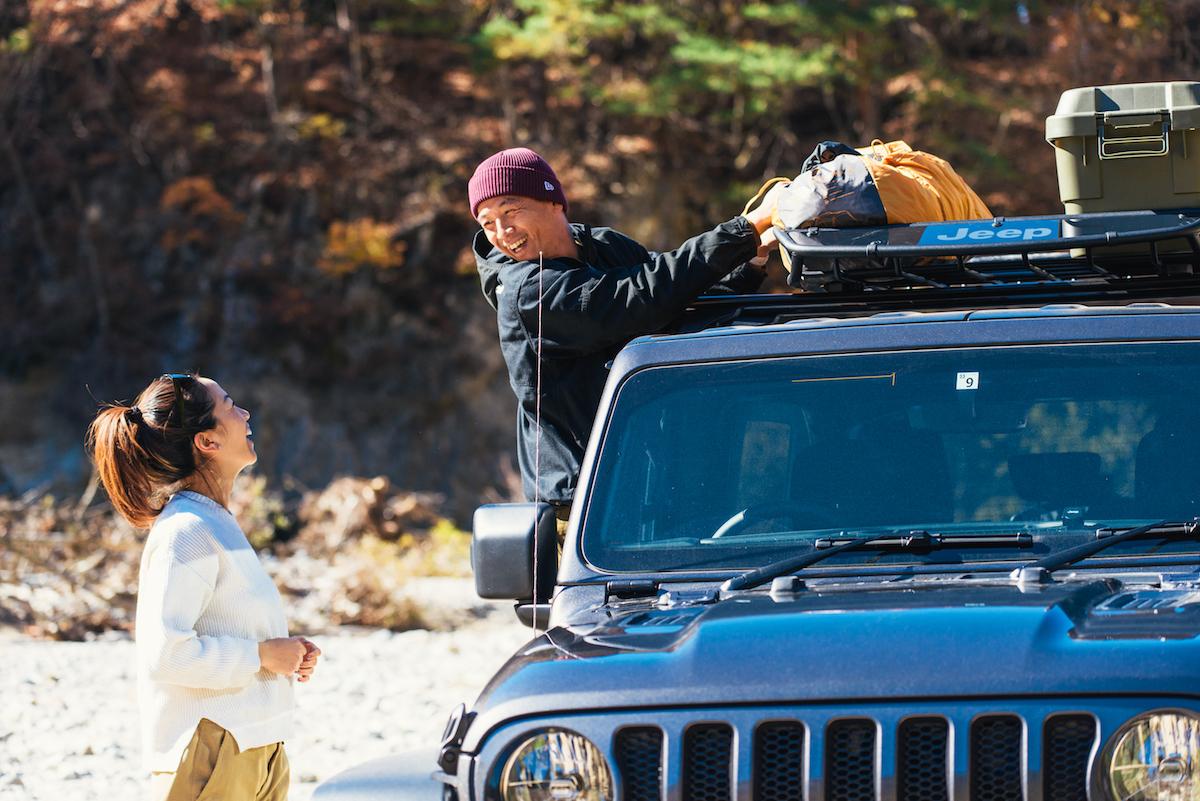 181213_jeep_sasaki_8 【キャンプサイト編】RealStyleを体現するスキーヤー佐々木明とNEW Jeep® Wranglerでアウトドアへ! 〜純正アクセサリー & キャンプギア大特集〜