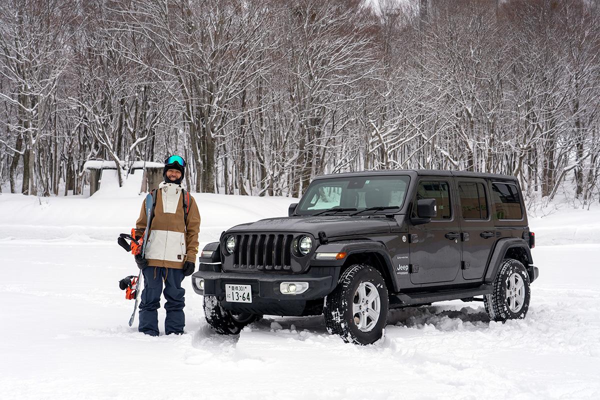 18_DSC7175 豊富な雪を求め、世界的トップスノーボーダー布施 忠がJeep Wranglerで豪雪地・八甲田を旅した二日間