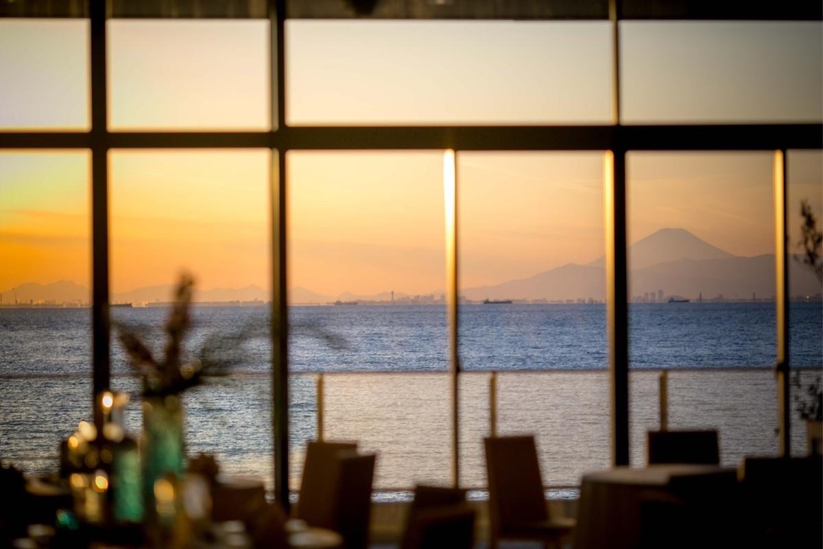 施設内から見える富士山
